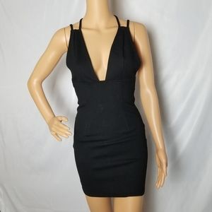 Tobi Out I Go Plunging Bodycon Dress